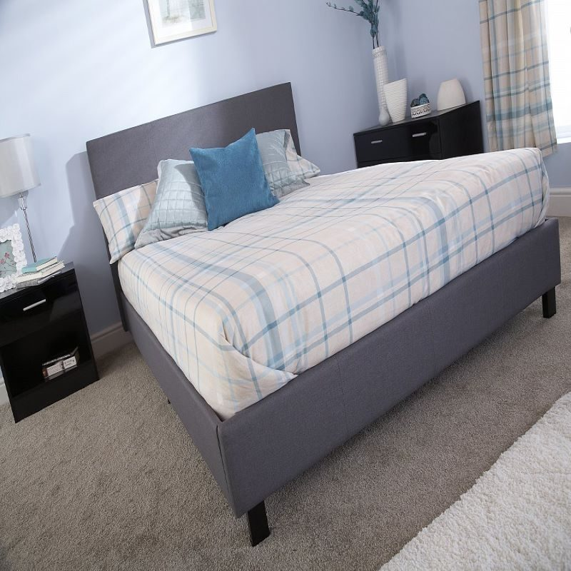 Bed in a Box Fabric Bedstead Grey | Affordable Beds