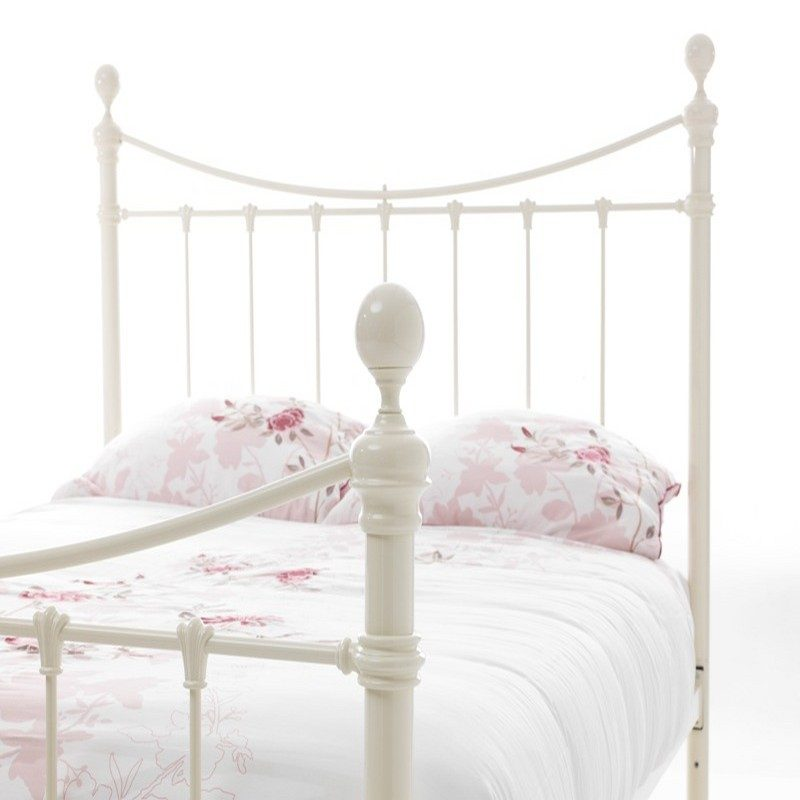Ethan White Metal Bed Frame
