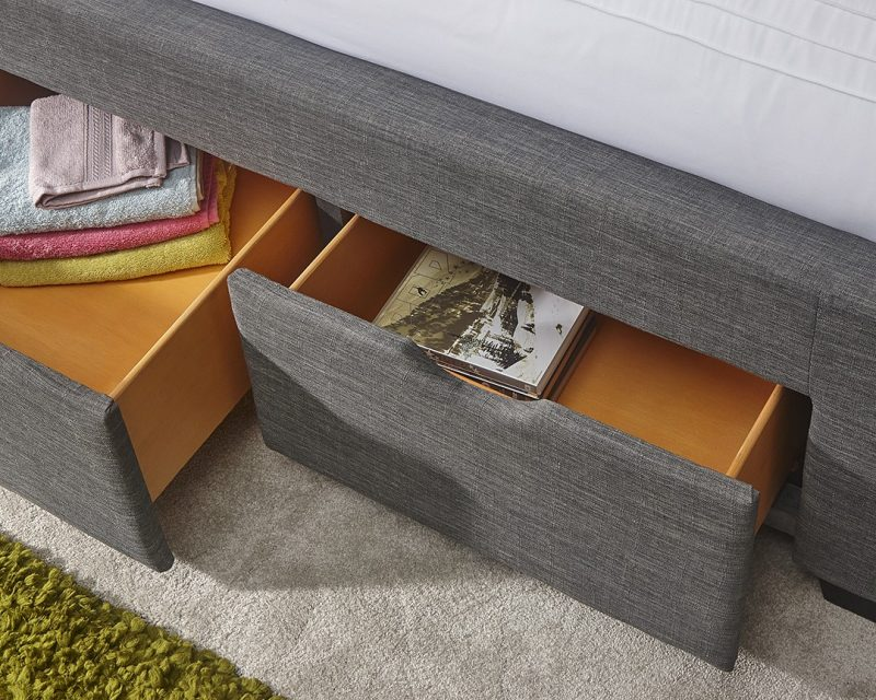 Koln Grey Storage Bed Drawer | Beds with Free Delivery