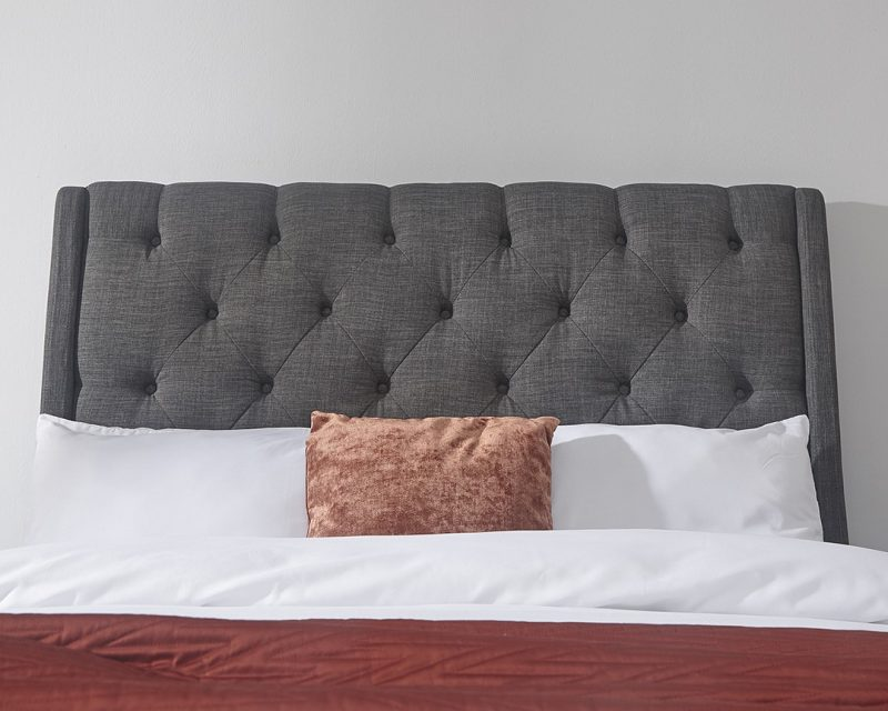 Koln Grey Storage Bed Headboard | Beds with Free Delivery