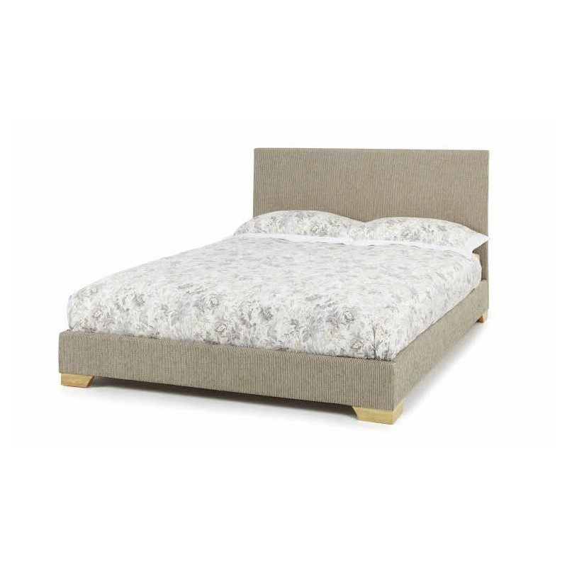 Serene Emily Upholstered Bed Frame Latte | Beds with Free Delivery