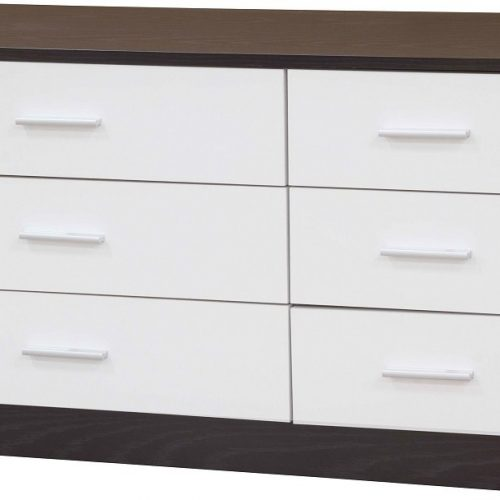 Ottawa 3x3 Drawer White Black | Bedroom Furniture | Bishops Beds