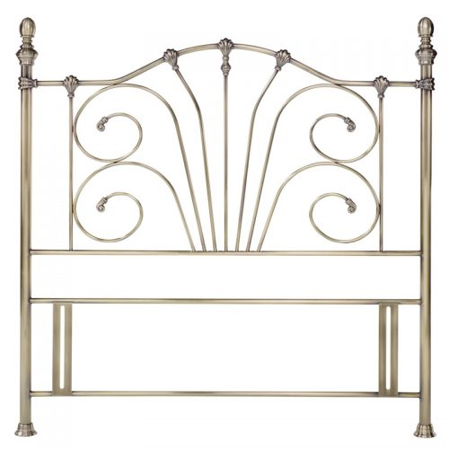 Antique Brass Rebecca Metal Headboard from Bentley Designs | Cheap Beds