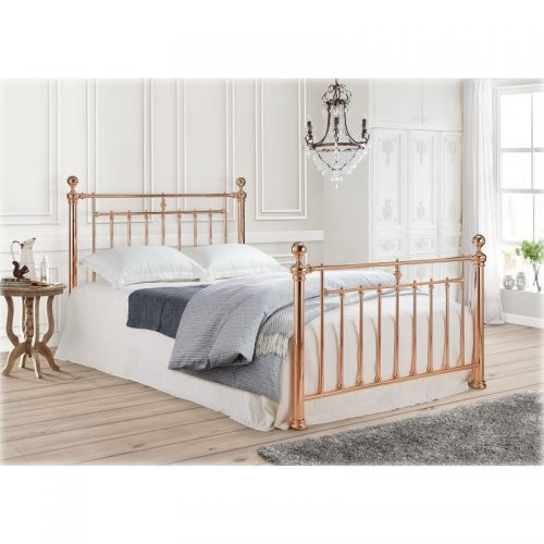 Time Living Alexander Rose Metal Bed Frame - Bishops Beds