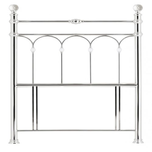 Krystal Floorstanding Chrome Headboard - Bishops Beds