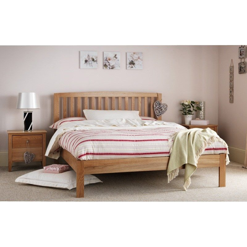 Thornton White American Oak Bed Frame by Serene | Wooden Bed Frame
