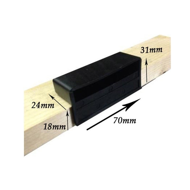 Dimensions of 63mm x 12mm Universal Sprung Bed Slat Holder