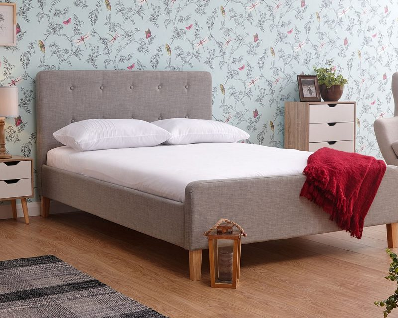 Ashbourne Fabric Grey Bed Frame | Double Beds