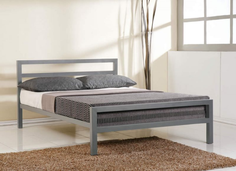 City Block Metal Bed Frame By Time Living