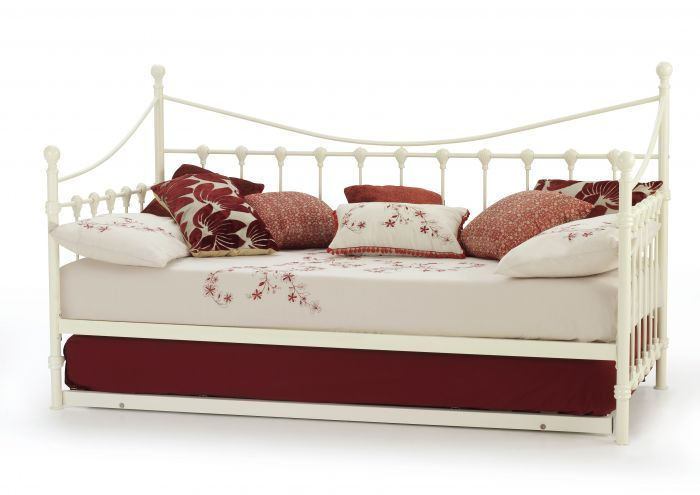Serene Marseilles Metal Day Bed with Guest Bed