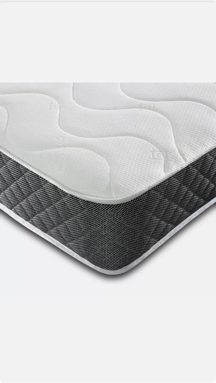 Memory Coil Mattress in a Box with Grey Border | Affordable Beds and Mattresses | Bishops Beds